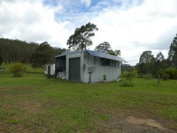 shed, solar panels