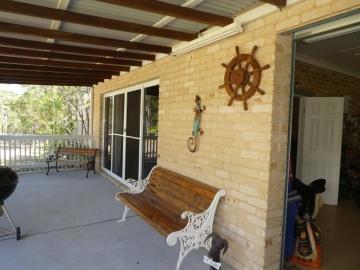 verandah off flat