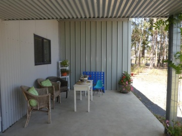 downstairs BBQ area